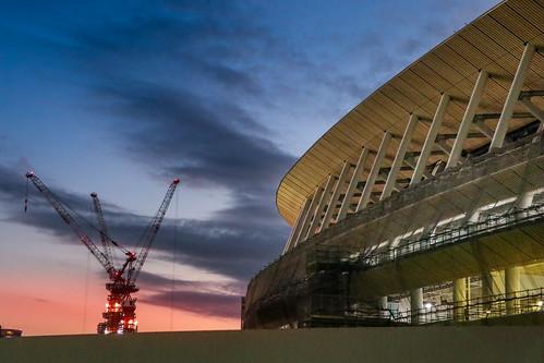 東京 sendagaya オリンピックスタジアム twilight 千駄ヶ谷 stadium olympic tokyo explore sunset stadiums