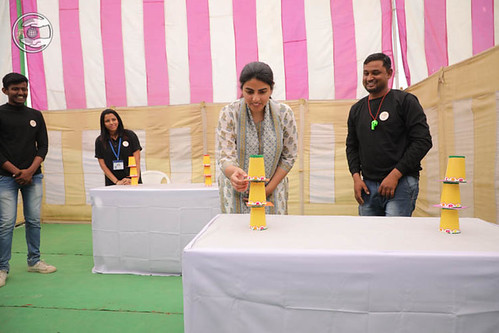 Blessings by Satguru Mata Ji at Pavilion of Paper Drop game