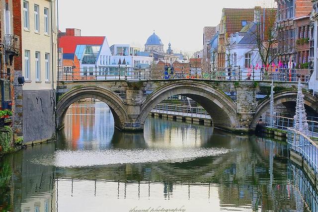 River Dijle in Mechelen, Belgium