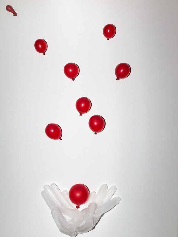 Traum von fliegenden Luftballons