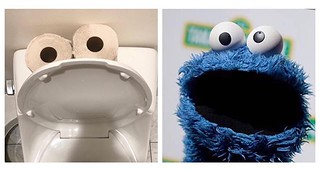 why I take so long in the bathroom #iseemuppets #iseefaces #cookiemonster #looklike #Pareidolia #muppets #pissplay | by changoblanco