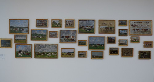 The famous collection of paintings of Eugène Boudin (1824-1898), the painter most closely associated with the Seine estuary, in the MuMa Museum André Malraux, Le Havre