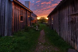 Magic sunrise at Äskhult