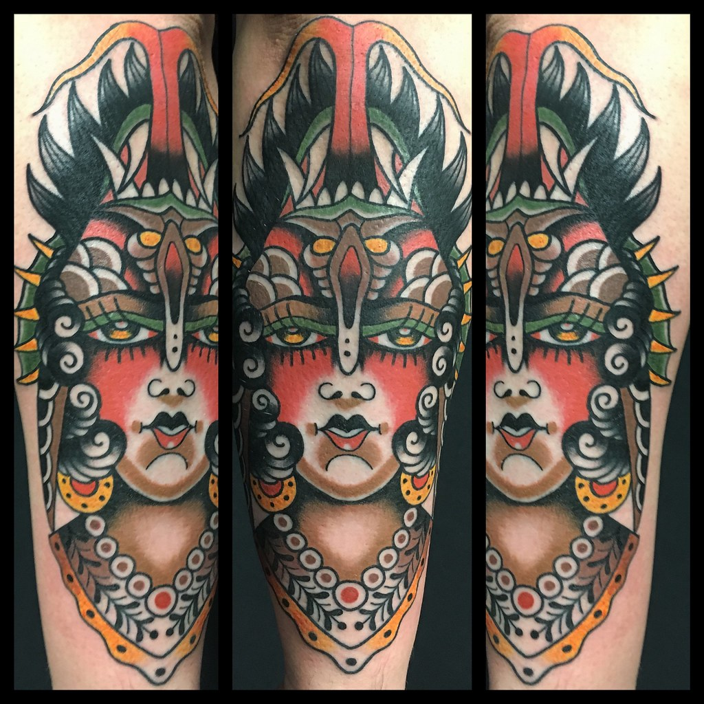 a11ec419a2437 ... Upside-down lady demon tattoo by Dap at Skingdom Tattoo, Treviso Italy  | by