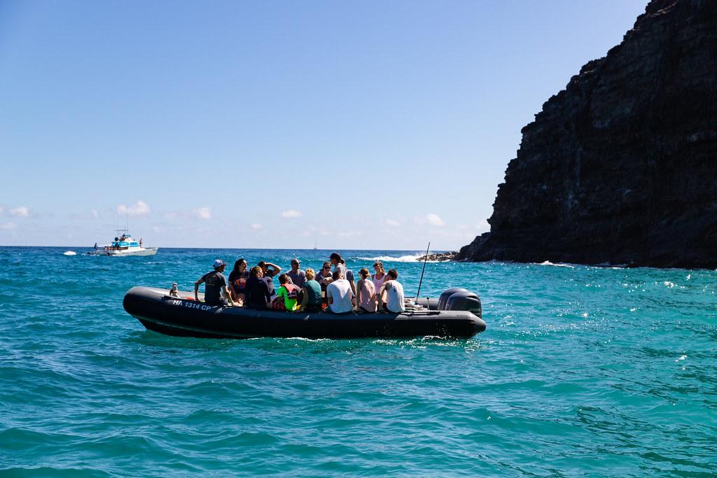 Zodiac Rafting Boat Tour Na Pali Coast Kauai Hawaii Flickr