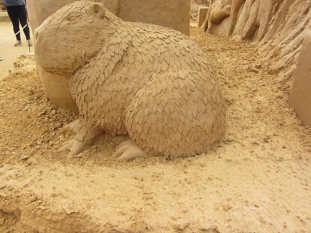 Capybara,   A Day at the Zoo, Frankston Sand Sculptures, 2016