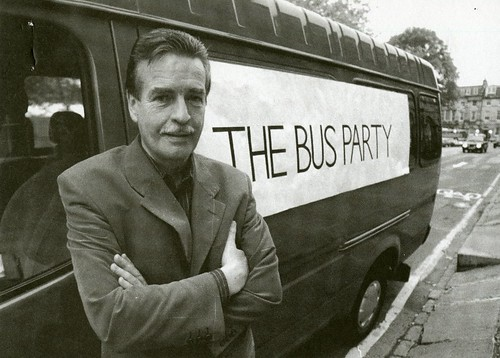 William McIlvanney at the Bus Party, 1997 tour | by Scottish Political Archive