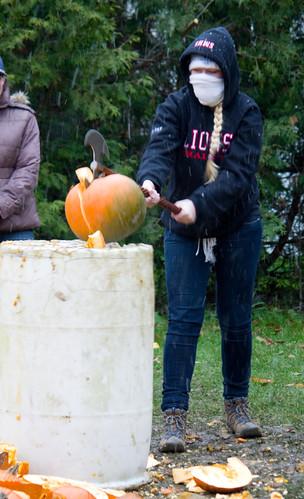 Pumpkin Massacre 2014 Axe | by owntwohands