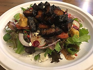 Pork Belly salad, Huntsville, Alabama