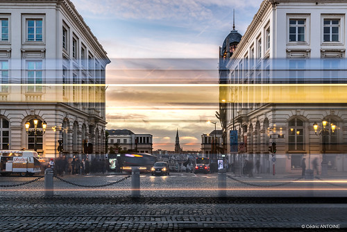 brussels bruxelles bruxellesmabelle montdesarts bluehour sunset tram motion longexposure nikon d750 urban stib mivb