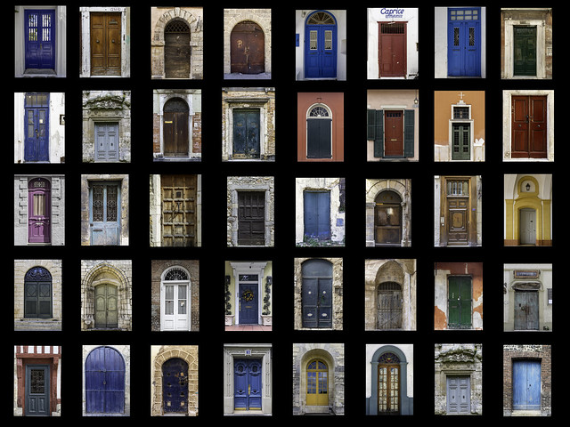Collage of Doors from Around the World