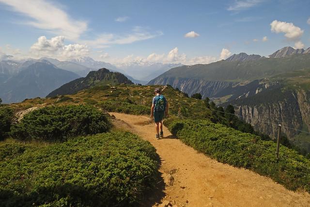 Day 3 of hiking around the Aletsch glacier
