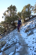 0766 Vicki hiking on the snow-covered Telescope Peak Trail | by _JFR_