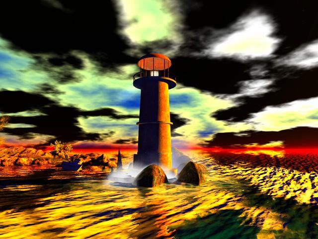 Cherished - Lighthouse On An island Cusp