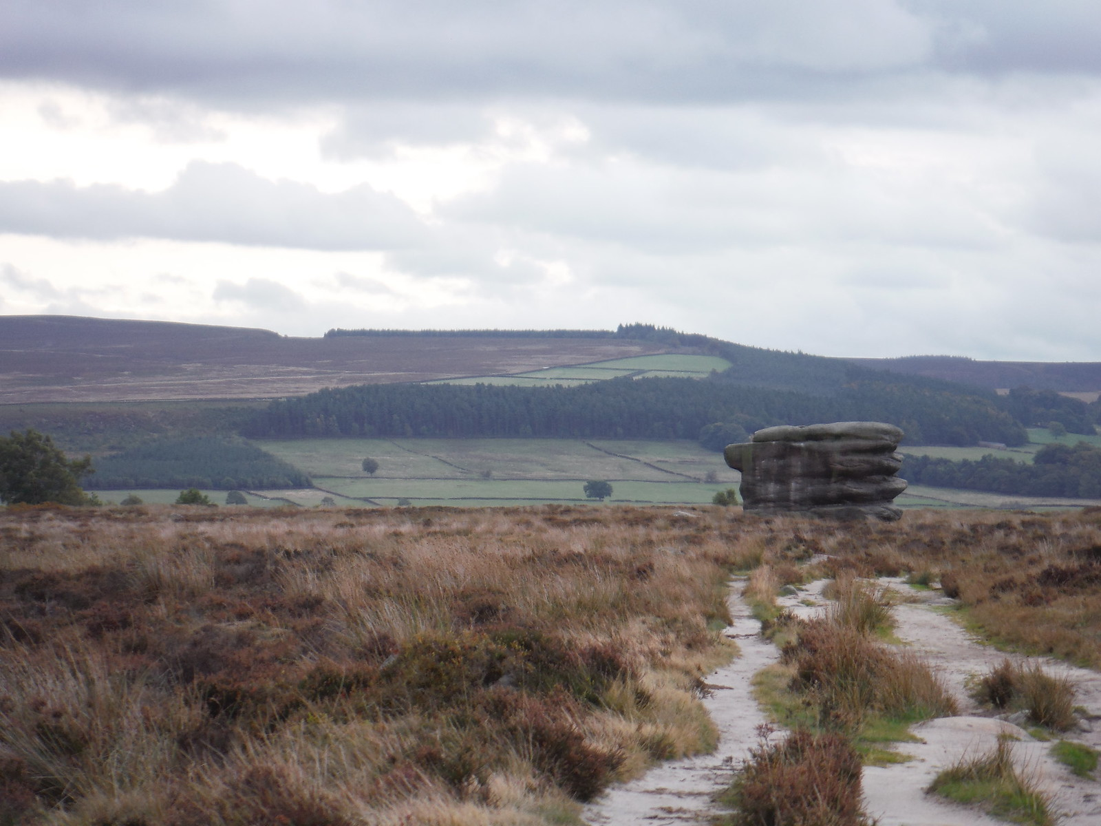 Eaglestone Flat and the Moors above Chatsworth SWC Walk 322 - Grindleford Circular (via Chatsworth House)