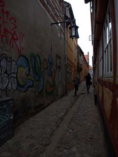 Street in Helsingor, Denmark