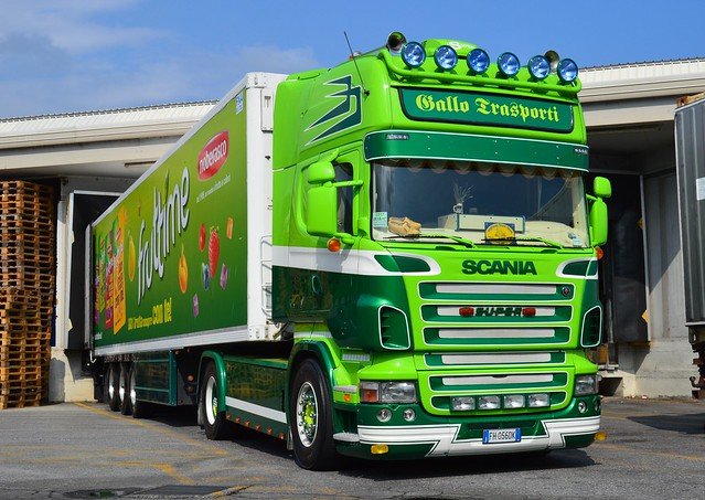 I-Gallo Trasporti >Noberasco< Scania R TL Ex Anna Fleurs