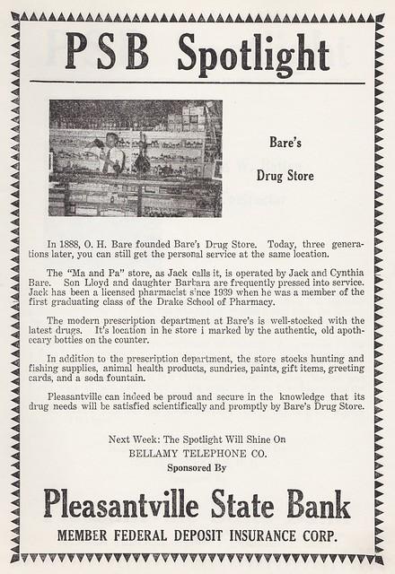 bares drug store
