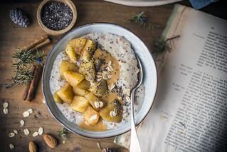 Preparato per porridge- mela e cannella-3 | by ileana_pavone