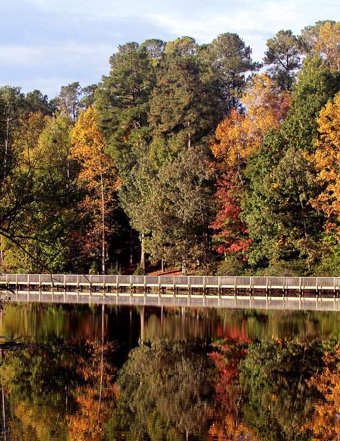 Fall at Lake Lynn, Raleigh, NC