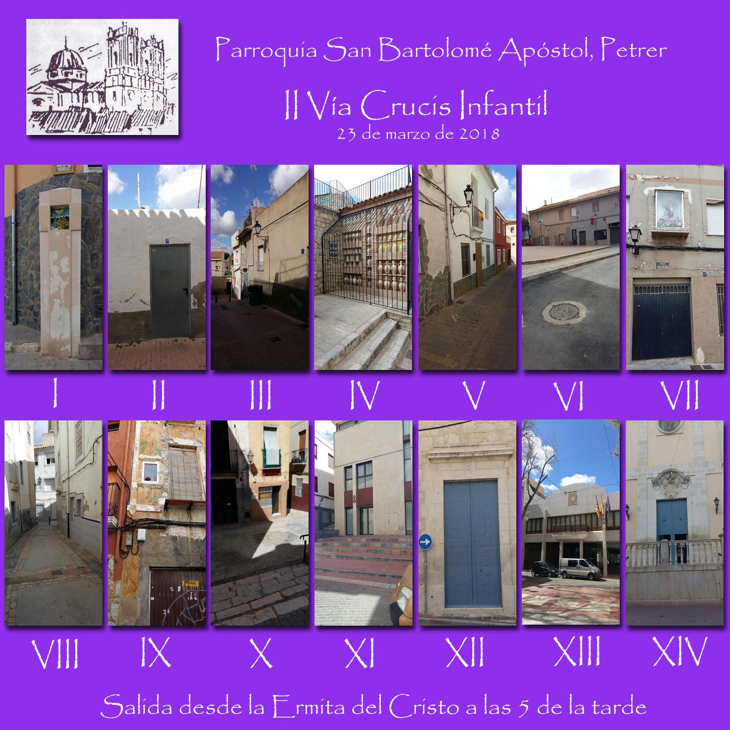 II Vía Crucis Infantil -estaciones-