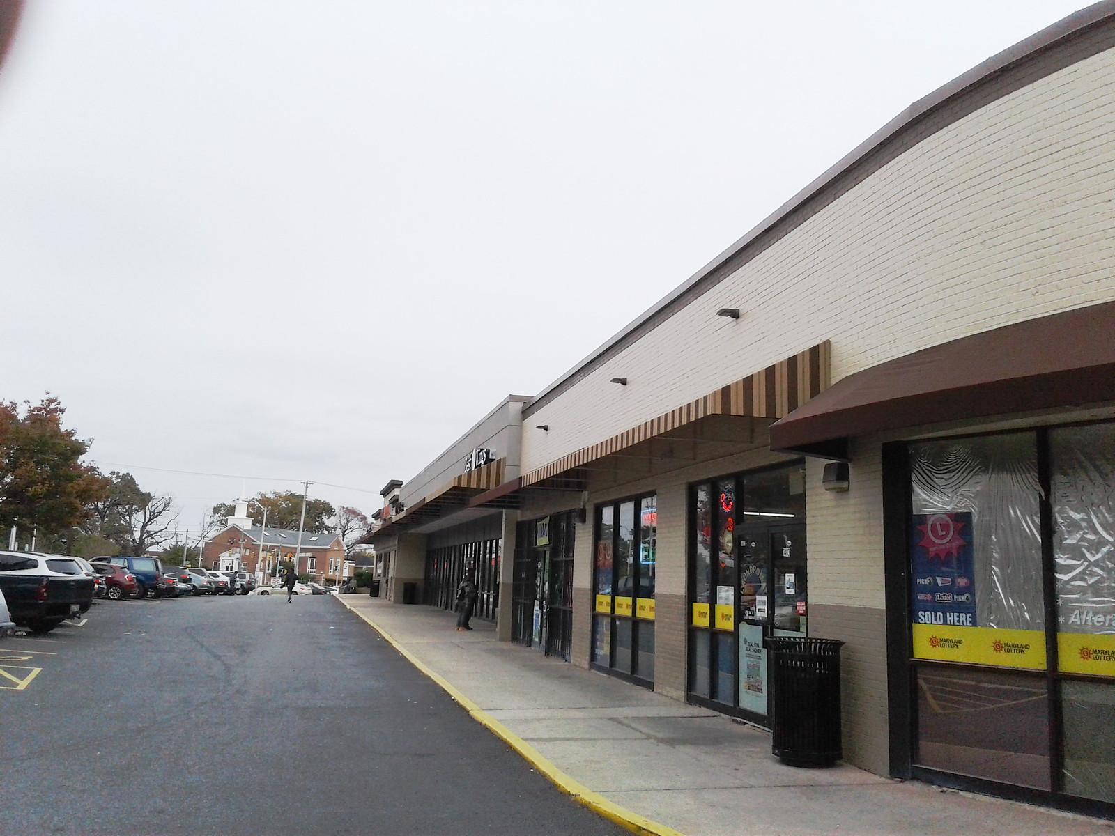 Shopping Center Metal Awnings