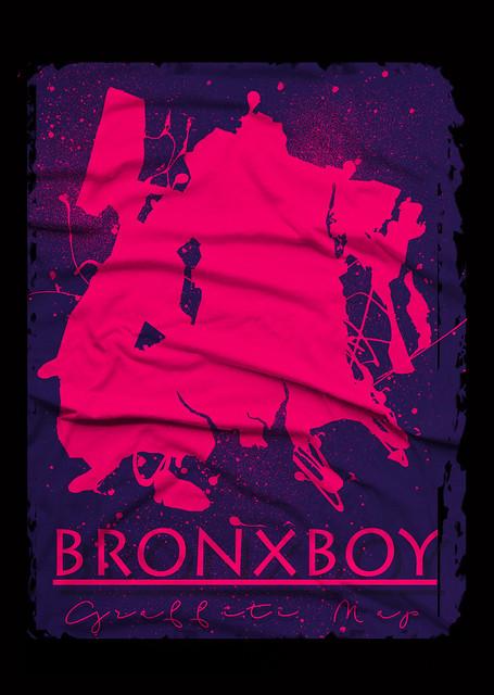 Bronx Boy Graffiti Splatter Map By Bobby Boggs