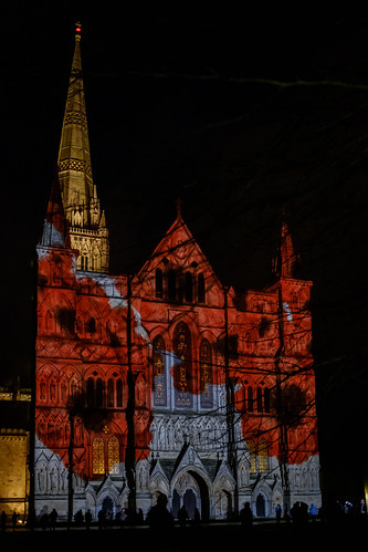Salisbury Cathedral Armistice Poppy Projection | by The-E