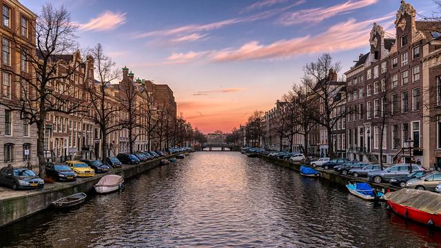Beautiful Evening in Amsterdam