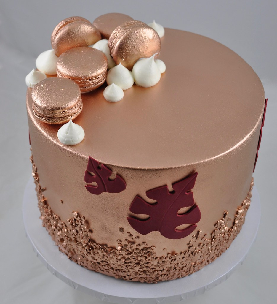 Excellent Rose Gold Birthday Cake Jenny Wenny Flickr Funny Birthday Cards Online Overcheapnameinfo