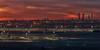 Sunset in airport Madrid-Barajas by Javichu Fotografia
