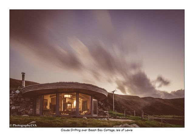 Clouds Drifting over Beach Bay Cottage, Isle of Lewis