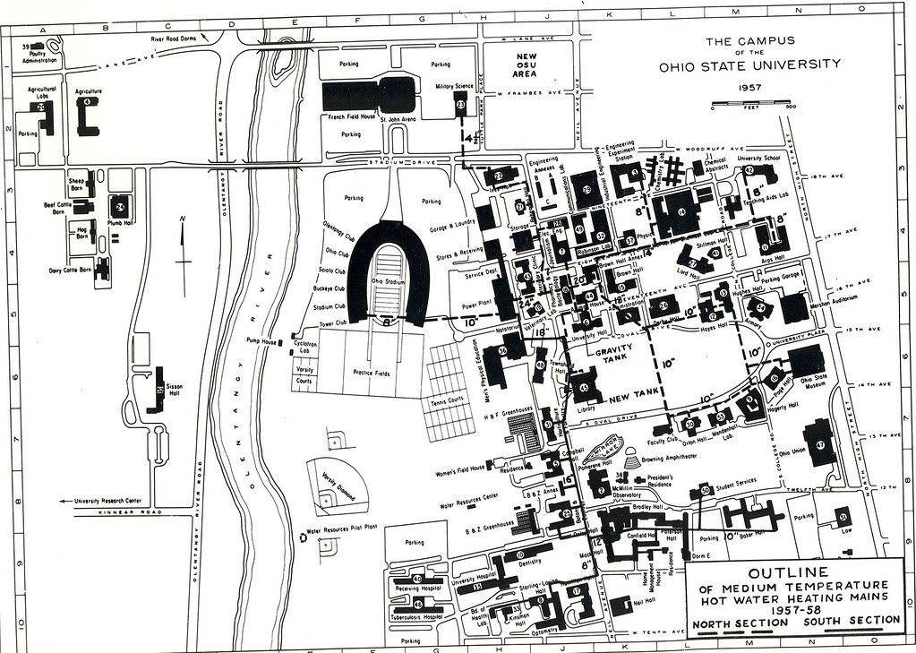 1957 campus map | The Ohio State University Archives | Flickr on osu map columbus ohio, u of m campus map, ohio university map, columbus state community college campus map, osu smith lab map, osu medical center map, duke university campus map, mercer university main campus map, university of dayton campus map, ok state campus map, osu map.pdf, osu rv parking map, tiffin university campus map, ohio state map, university of michigan campus map,