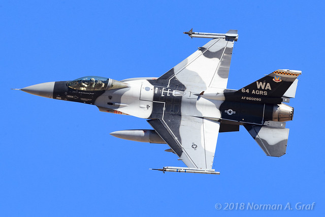 General Dynamics F-16C Fighting Falcon of the 64th Aggressor Squadron (64 AGRS) from Nellis AFB