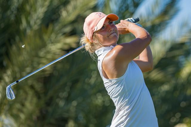 Filippa Moerk of Sweden during the third round