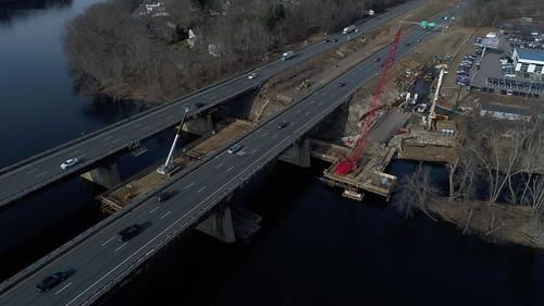 Haverhill I-495 Bridges Trestle Construction, January 2019   by MassDOT