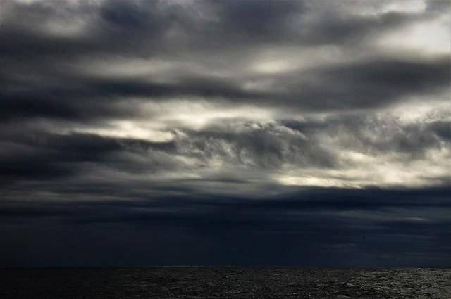 Un cielo muy encapotado