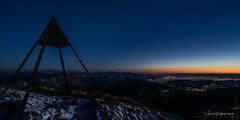 Le lac Léman depuis le sommet du Moléson (Switzerland)