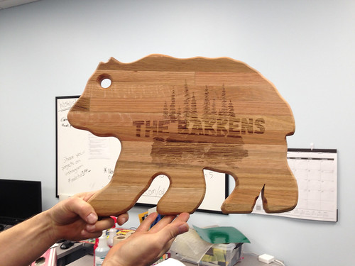 bear cutting board