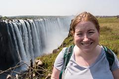 Sarah at Victoria Falls