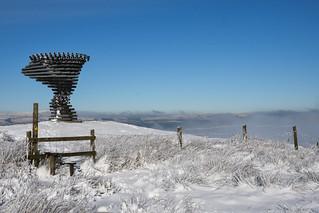 'Singing Ringing Tree' in the snow.