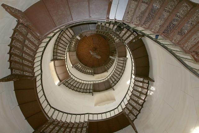 Treppe im Schloss Granitz auf Rügen