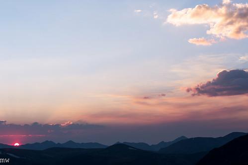 rockymountainnationalpark rockies sunset mountains clouds