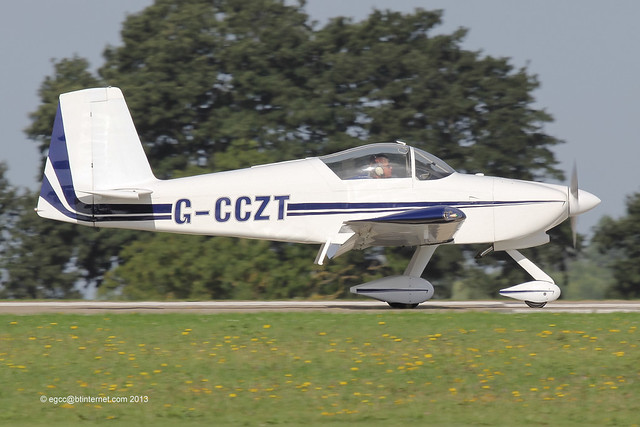 G-CCZT - 2004 build Vans RV-9A, arriving at Sywell during the 2013 LAA Rally