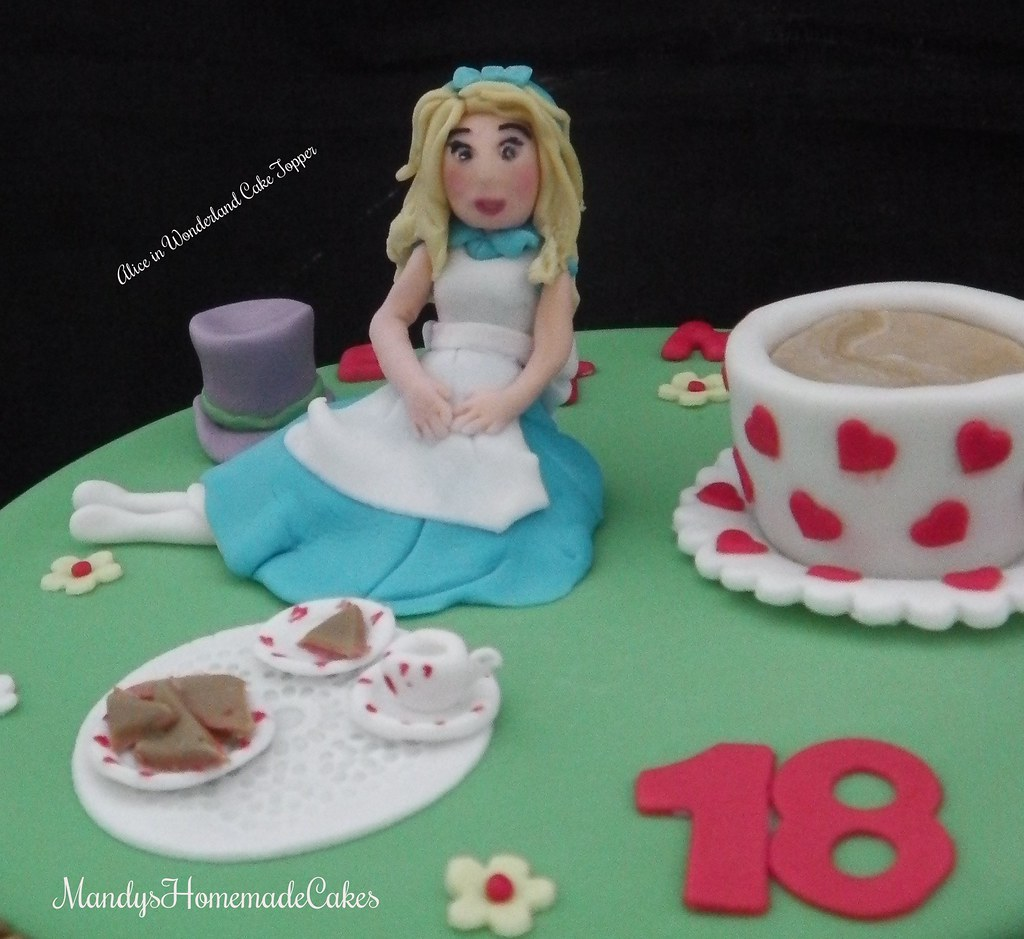 Fine Alice In Wonderland Birthday Cake Toppr Mandys Homemade Cakes Personalised Birthday Cards Cominlily Jamesorg