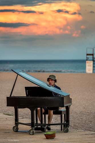 The Piano man plays on the Kew Beach boardwalk | by Phil Marion (176 million views - THANKS)