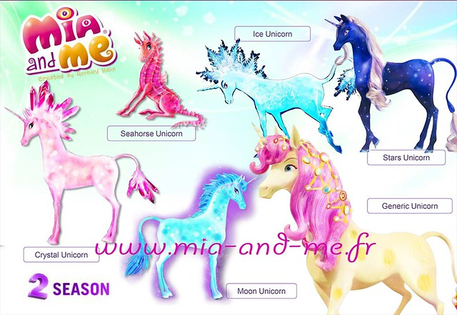 licorne de cristal, lune, hippocampe, glace, étoiles et viana
