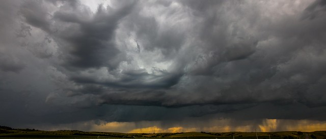 071715 - Mid July Nebraska Thunderstorms (Pano)