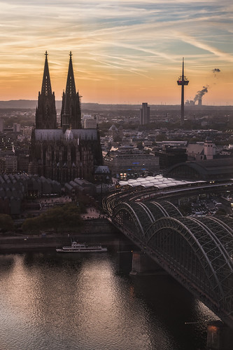 cologne köln germany rhineland architecture koln rheinland northrhinewestphalia cathedral gothic architectureporn church skyline city cityscape aerial view tower bridge river riverside sunset sunrise sunshine night nikon d5300