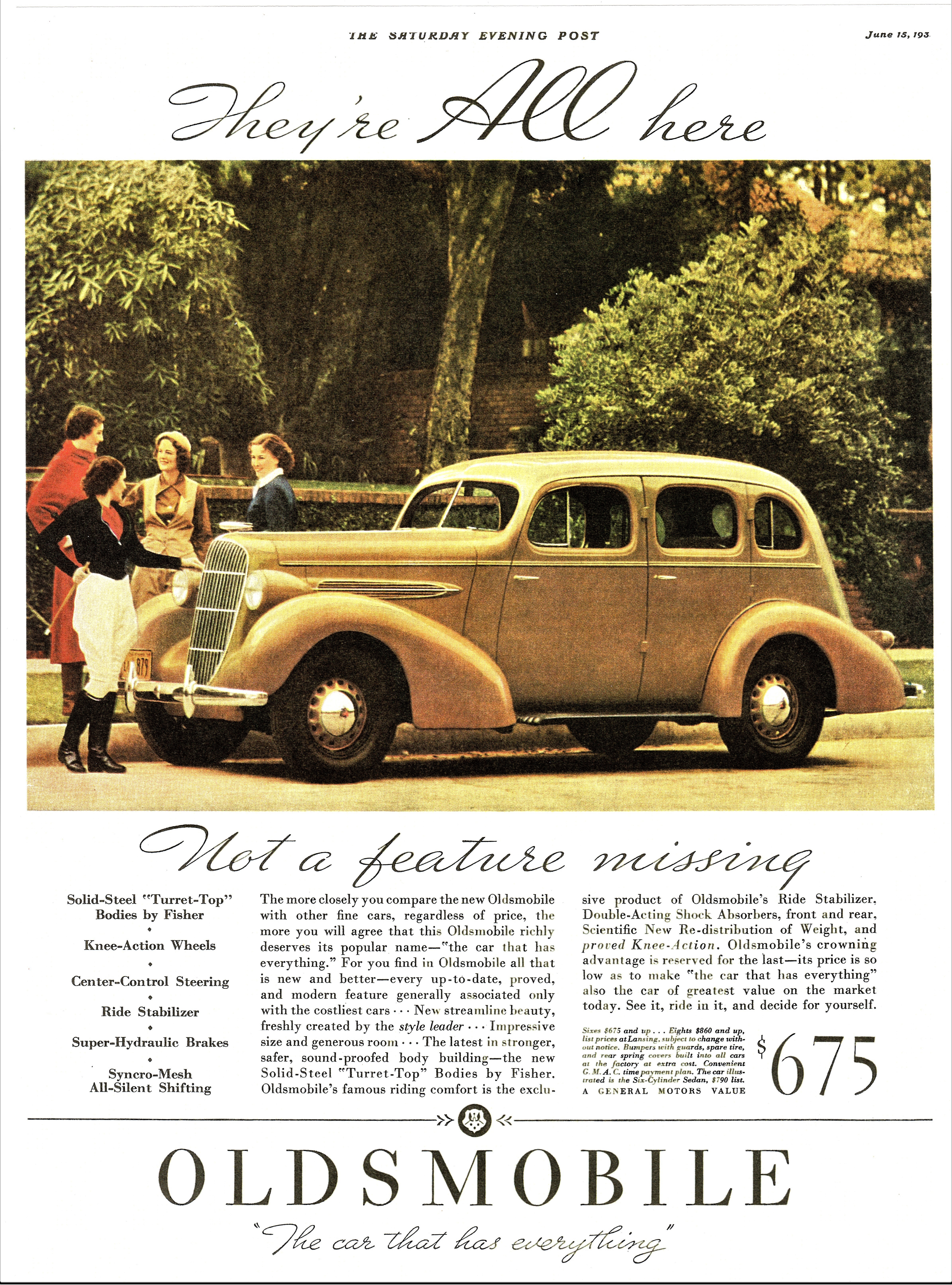 1935 Oldsmobile Six 4-Door Sedan - published in The Saturday Evening Post - June 15, 1935